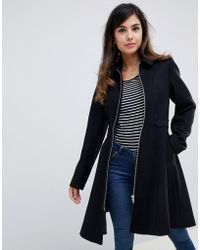 ASOS - Swing Coat With Zip Front - Lyst