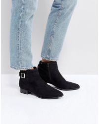 e123feeea8a3 Call It Spring Leawen Black Block Heel Shoe Boots in Black - Lyst