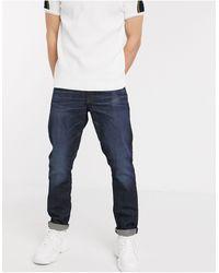 G-Star RAW - 3301 - Jeans dritti affusolati lavaggio scuro - Lyst