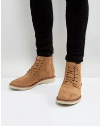 TOMS - Porter Water Resistent Suede Lace Up Boots - Lyst