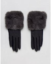 Vincent Pradier Colourblock Gloves With Fur Trim - Multicolour