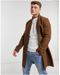 Tom Tailor - Коричневое Шерстяное Пальто -коричневый Цвет - Lyst