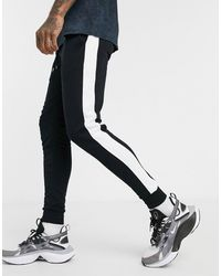 ASOS Skinny Sweatpants With Side Stripe - Black