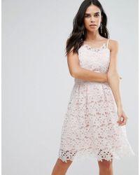 Liquorish - Lace Sun Dress - Lyst