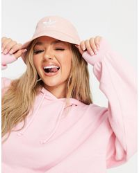 adidas Originals Светло-розовая Панама С Логотипом-трилистником -розовый Цвет