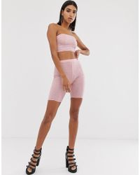 ASOS - Two-piece Mesh legging Short With Crystal Studs - Lyst
