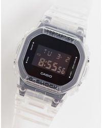 G-Shock Цифровые Часы В Стиле Унисекс С Прозрачным Ремешком G-shock Dw-5600ske-7er-прозрачный - Металлик