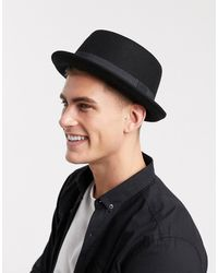 ASOS Pork Pie Hat - Black