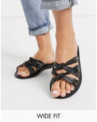 ASOS Wide Fit Veronica Knot Sandal - Black