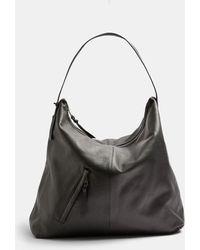 TOPSHOP Leather Large Tote Bag - Black