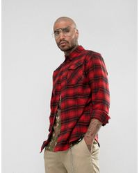 adidas Originals - Oversized Shirt In Red Check Br7936 - Lyst
