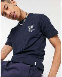Fresh Ego Kid Small Logo T-shirt - Blue