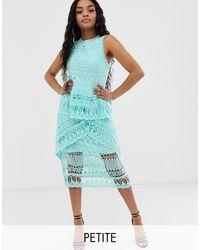 Missguided Vestido midi - Azul