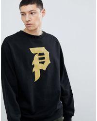 Primitive - Sweatshirt With Large Logo In Black - Lyst