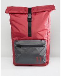 11 Degrees - Rolltop Backpack In Burgundy - Lyst