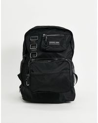 ASOS Backpack With Modular Removeable Pouches And Clips - Black