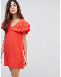 Vero Moda - Ruffle Panel Dress - Lyst