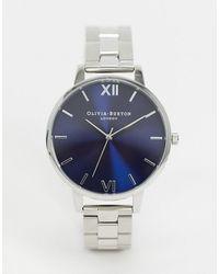 Olivia Burton Shoreditch Ob16sh09 Bracelet Watch With Midnight Dial - Metallic