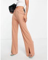 Vero Moda Split Hem Pants - Multicolor