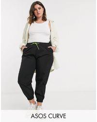 ASOS Asos Design Curve Shell jogger - Black