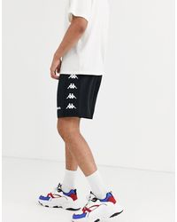 Kappa Side Logo Drawstring Shorts - Black