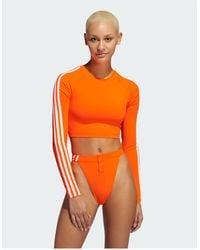 Ivy Park Adidas X Cropped Top - Orange