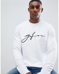 Good For Nothing Sweatshirt In White With Chest Logo