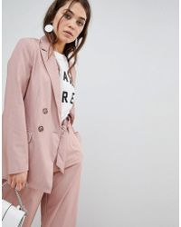 New Look - Double Breasted Blazer - Lyst