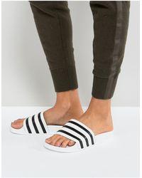 adidas Originals Adilette - Slippers - Wit