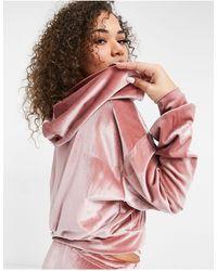 Fashionkilla Эксклюзивный Велюровый Худи На Молнии Пыльно-розового Цвета (от Комплекта)-розовый Цвет