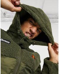 Ellesse Mix Sherpa Puffer Jacket - Green