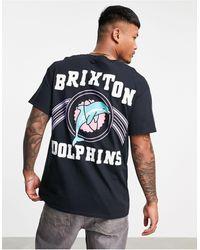New Love Club Brixton dolphins - t-shirt nera - Nero