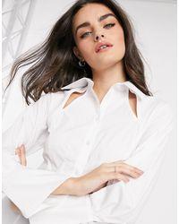 ASOS - Хлопковая Рубашка С Расклешенными Манжетами - Lyst