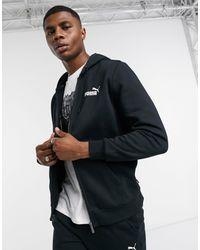 PUMA Essentails big chest logo zip hoodie - Nero