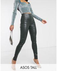 ASOS ASOS DESIGN Tall – Rivington – Beschichtete Jogginghose mit hoher Taille - Mehrfarbig