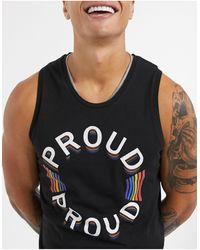 Jack & Jones Черная Майка Originals Pride-черный