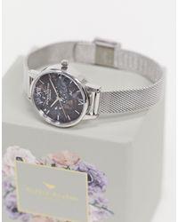 Olivia Burton Celestial - Mesh Horloge - Zwart