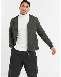 Rains Зеленая Стеганая Куртка -зеленый Цвет - Многоцветный