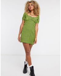 Noisy May - Skater Dress With Puffed Sleeves - Lyst