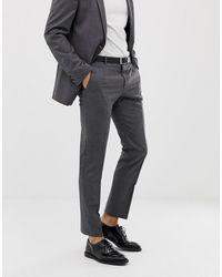 Tommy Hilfiger Pantalon de costume slim - Gris