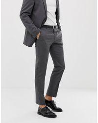 Tommy Hilfiger Pantalones de traje de corte slim - Gris