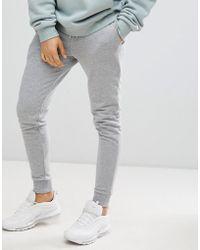 ASOS DESIGN - Skinny Joggers In Grey - Lyst
