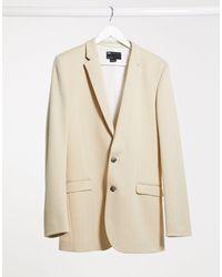 ASOS Wedding Super Skinny Blazer - Natural