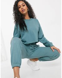 Missguided Co-ord Cropped Sweatshirt - Blue