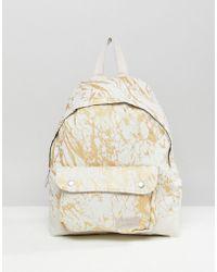 Eastpak - Padded Pak'r Superb White Marble Backpack - Lyst