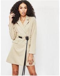 4th & Reckless Blazer Dress With Belt Detail - Brown