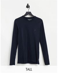 French Connection Tall - Top a maniche lunghe basic blu navy
