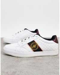 River Island Trainer With Wasp Embroidery - White