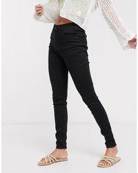 Pieces Sofi - Liftende Skinny Jeans - Zwart