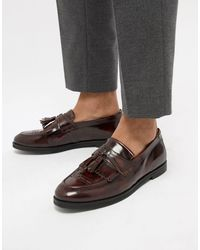 House Of Hounds Archer Tassel Loafers - Red